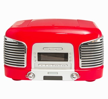 """Credit: <a href=""""http://www.shutterstock.com/pic-224910985/stock-photo-red-retro-radio-on-white-background.html"""">Shutterstock</a>"""