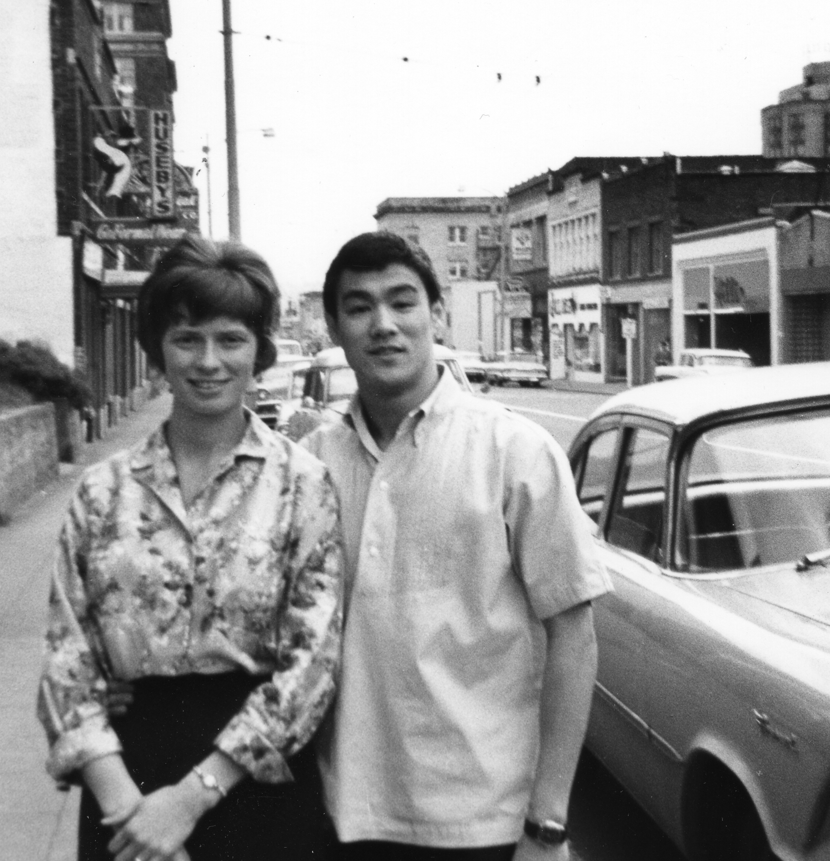 Bruce Lee with Linda Emery Credit: courtesy of Wing Luke Museum