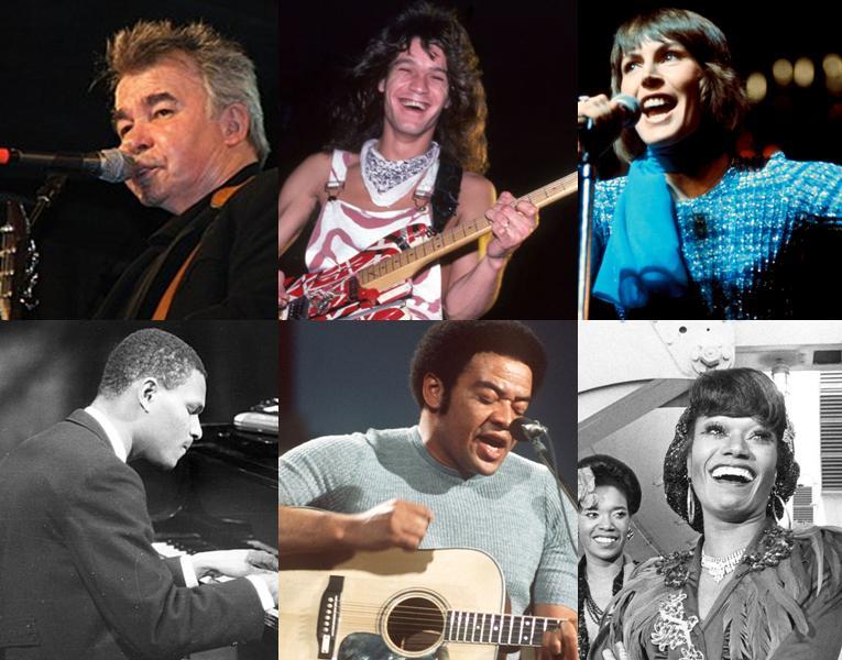 Caption: John Prine, Eddie Van Halen, Helen Reddy, McCoy Tyner, Bill Withers, Bonnie Pointer