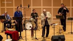 Caption: Bobb Fantauzzo performing with Lyz Jaakola, Credit: Andrea Canter