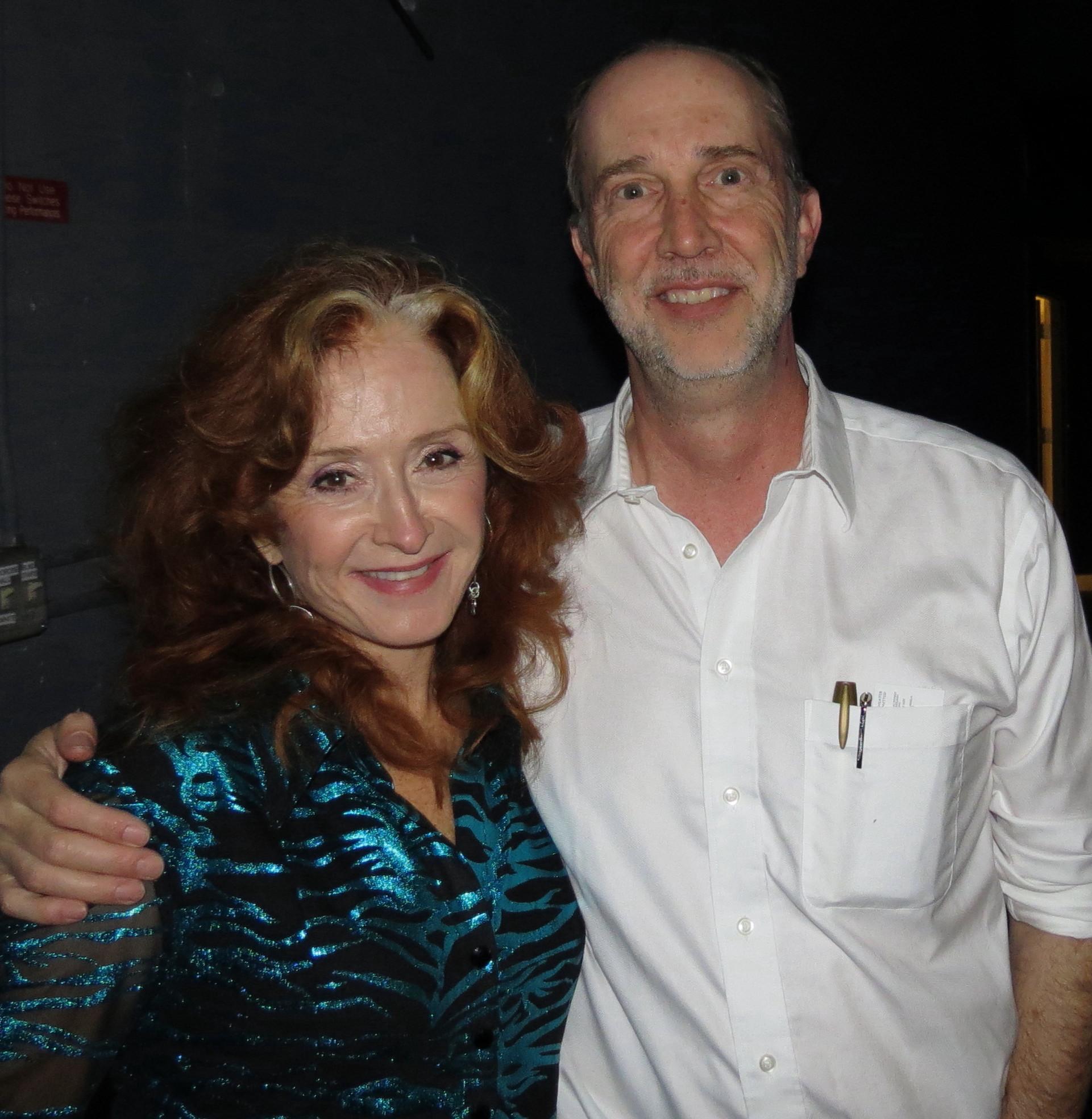 Caption: Bonnie Raitt with show host Paul Ingles