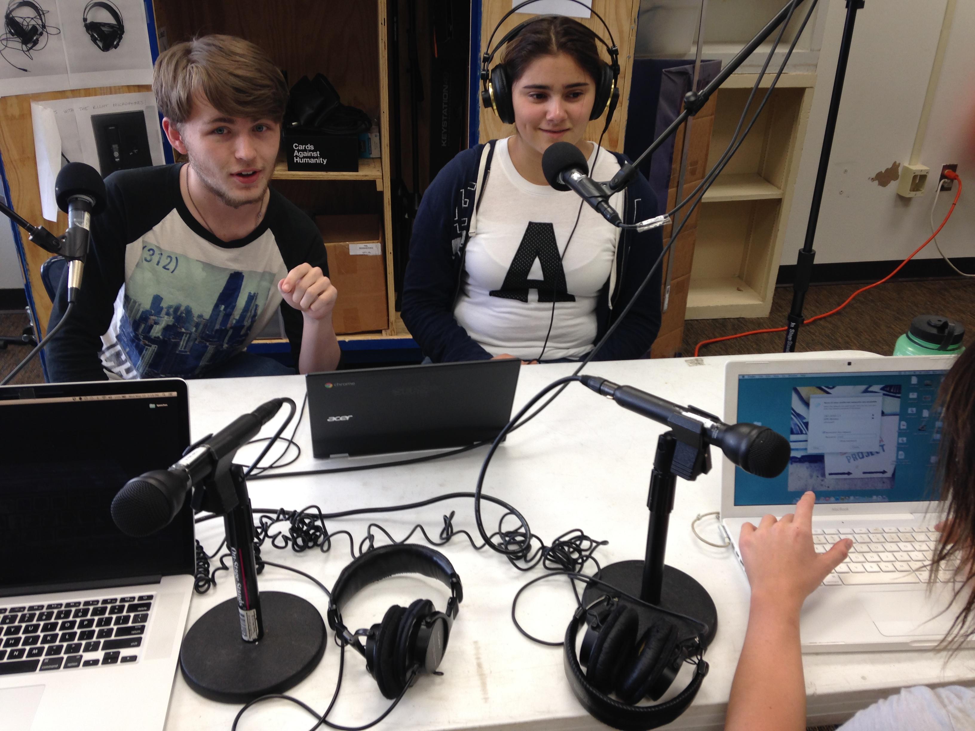 Caption: SFHS Innovation Academy youth producers