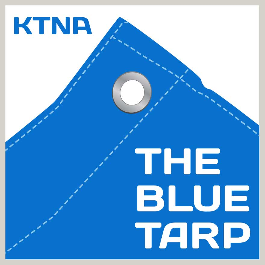 Caption: The Blue Tarp, Credit: KTNA Talkeetna