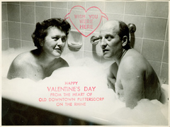 Caption: Julia and Paul Child Valentine, Credit: Schlesinger Library www.radcliffe.edu/schlesinger_library.aspx
