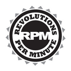 Caption: RPM - Revolutions Per Minute
