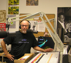 Caption: Big Daddy in the WNJR air studio, Credit: Anthony Fleury