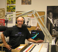 Caption: Big Daddy in the WNJR air studio, Credit: Anthony Fleury