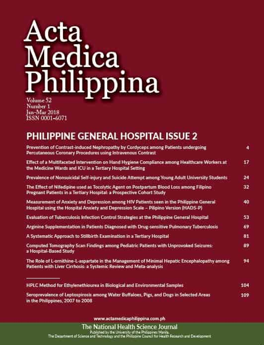 Vol  52, Issue 1, 2018 | Published by Acta Medica Philippina
