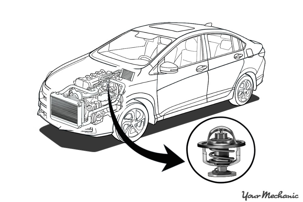 car thermostat replacement service cost yourmechanic repair