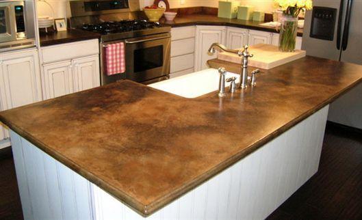 Stamped Concrete Kitchen Countertops