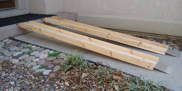 Wood Wheelchair Ramps Plans Closer View Of Start Of