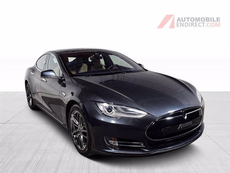 2015 Tesla Model S 90D Électrique Cuir Toit Pano
