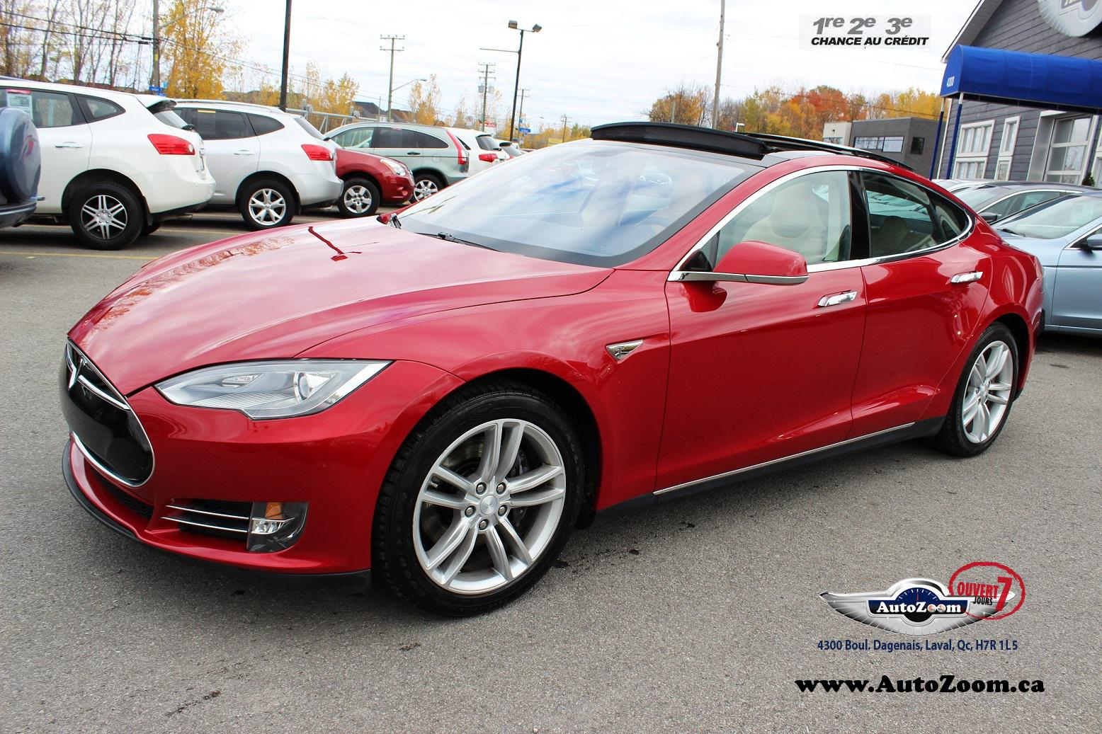 tesla model s 2013 occasion vendre laval chez autozoom. Black Bedroom Furniture Sets. Home Design Ideas