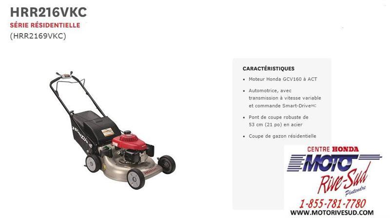 Honda TONDEUSE  HRR 2169 VKC 2019