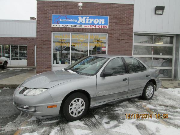 Pontiac Sunfire 2004 FINANCEMENT ET GARANTIE D #340618