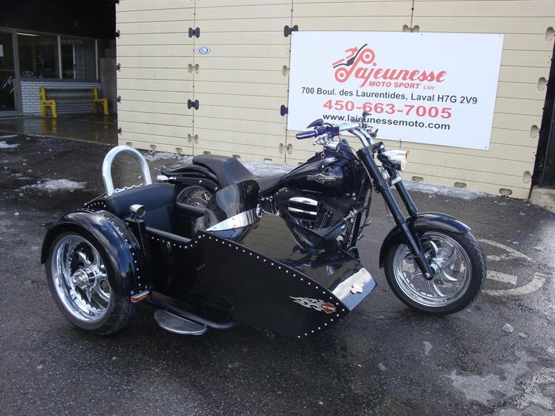 3 ROUES HARLEY SOFTAIL NIGHTRAIN SIDE CAR 2007