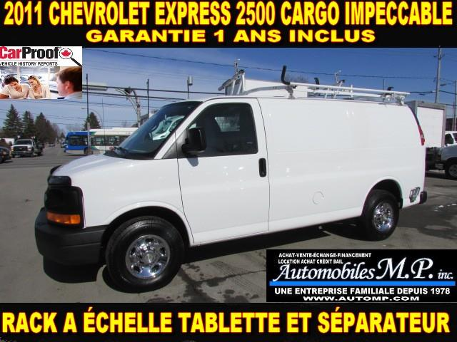 Chevrolet Express 2500 2011 CARGO 1 SEUL PROPRIO RACK TABLETTE #3422