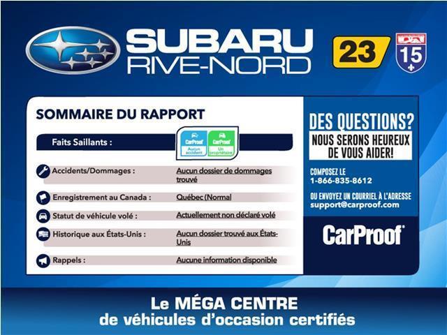 Subaru WRX Sport-tech TOIT+NAVI+CUIR 2015