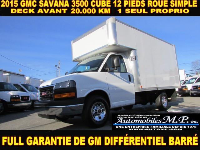 GMC Savana 3500 2015 CUBE 12 PIEDS DECK 20.000 KM #9707