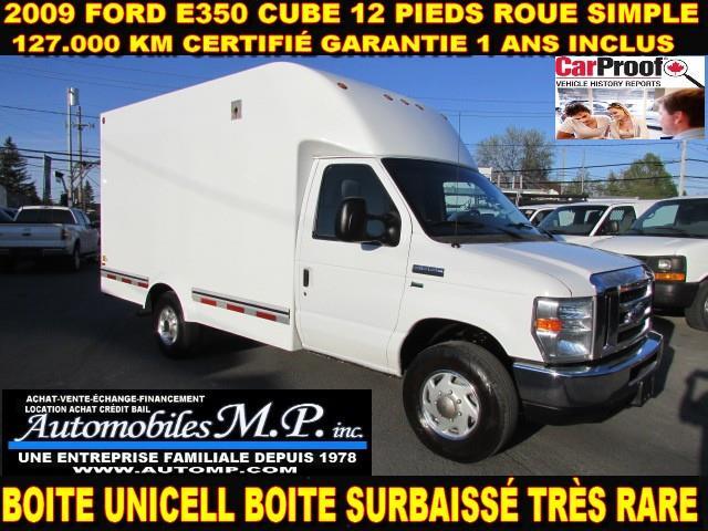 Ford E350 Cube 12 Pieds 2009 BOITE UNICELL SURBAISSÉ 127.000 KM #061