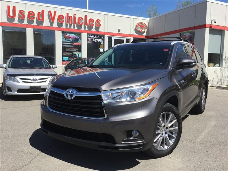 2015 Toyota Highlander Hybrid XLE AWD, 8 PASSENGER, NAVI, SUNROOF, PUSH START #C6410