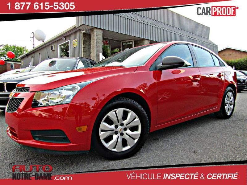 Chevrolet Cruze 2014 4dr Sdn 1LS Automatique ** Nouvel Arrivage **  #k0482