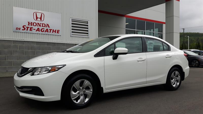 Honda Civic 2014 Man LX bas km, Bluetooth, A/C, USB #h129a