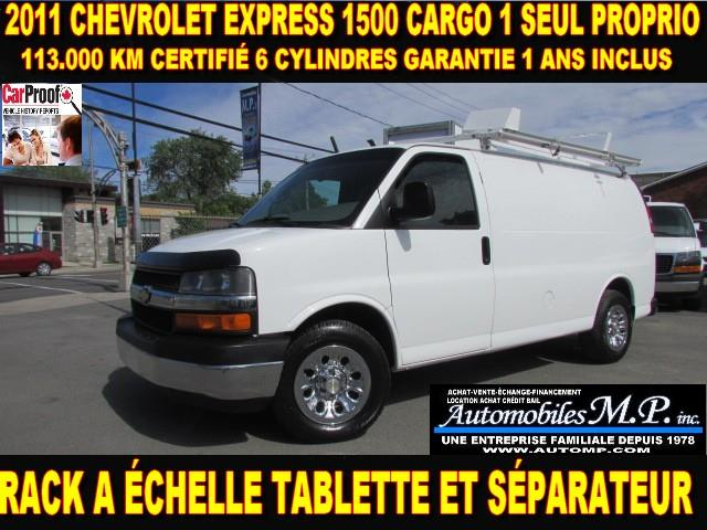 Chevrolet Express 1500 2011 CARGO 6 CYLINDRES 113.000 KM  #722
