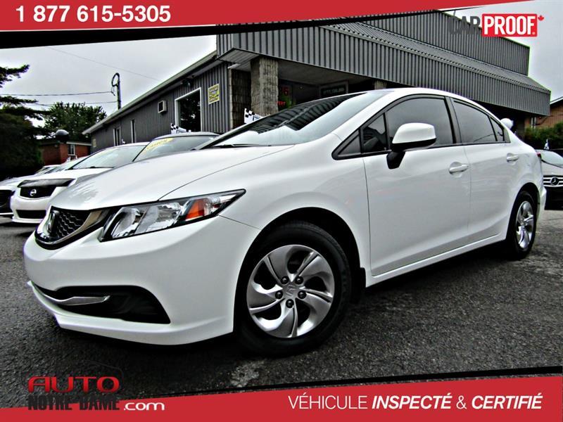 Honda Civic Sdn 2013 4dr Man LX AIR BLUETOOTH  ** NOUVEL ARRIVAGE **  #K0513