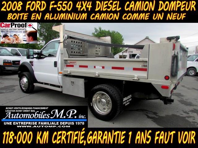 Ford Super Duty F-550 Drw 2008 4WD DIESEL DOMPEUR BOITE EN ALUMINUM COMME UN NEUF #905