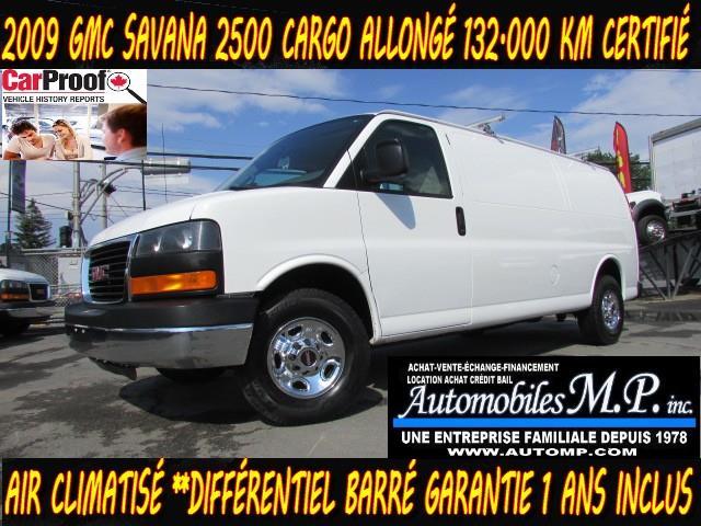 GMC Savana 2500 2009 CARGO ALLONGÉ GARANTIE 1 ANS IMPECCABLE #2930