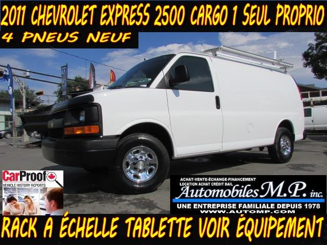 Chevrolet Express 2500 2011 CARGO RACK A ÉCHELLE TABLETTE 1 SEUL PROPRIO #469