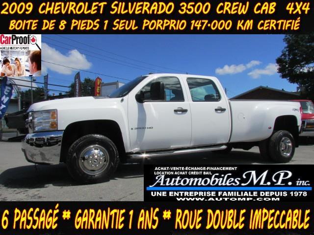 Chevrolet Silverado 3500HD 2009 4WD CREW CAB 1 SEUL PROPRIO ROUES DOUBLE #911
