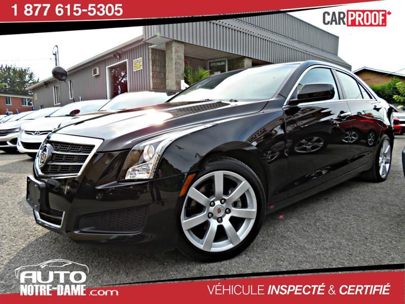 Cadillac ATS 2013 4dr Sdn 2.5L RWD AVEC 50 000KM ** 63$ par Semaine  #K0573