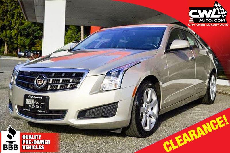 2013 Cadillac ATS 2.5L RWD - ONLY 14,600 KM's #CWL7303M