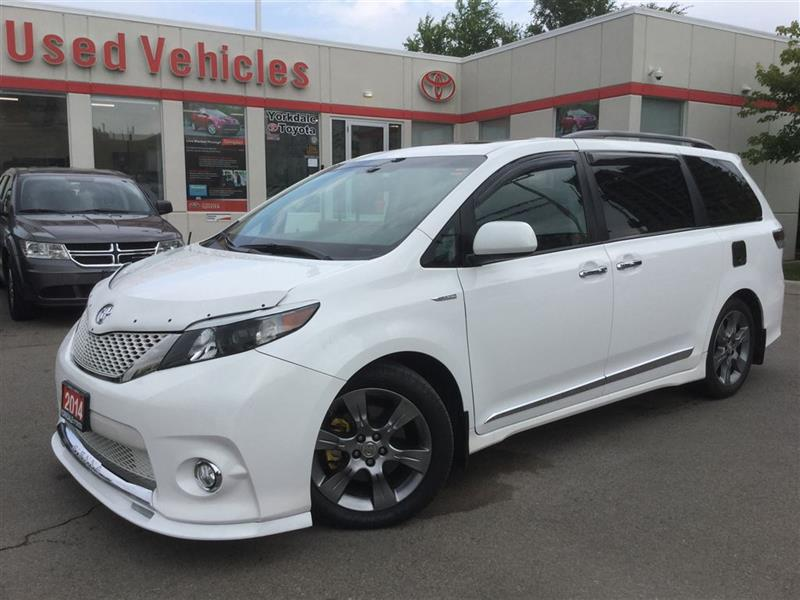 2014 Toyota Sienna SE 8 PASS, ONE OWNER, CLEAN CARPROOF, PWR SLDING D #77644564A