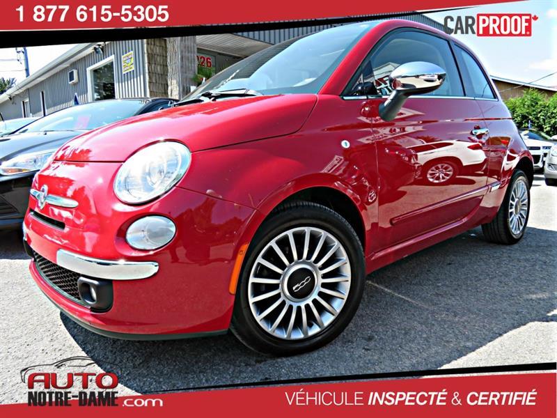 Fiat 500 2012 2dr HB CUIR TOIT MAGS ** NOUVEL ARRIVAGE ** #k0510a