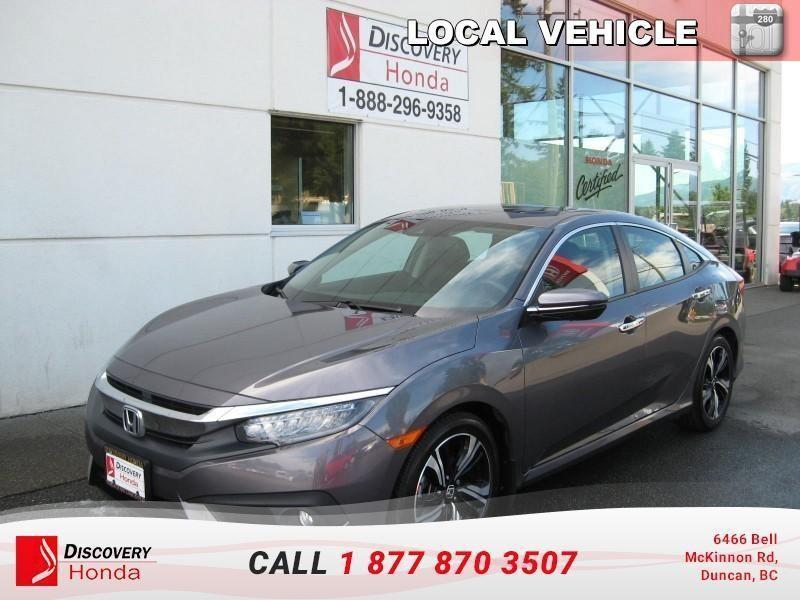 2016 Honda Civic Sedan Touring  - one owner - lo #17-437A