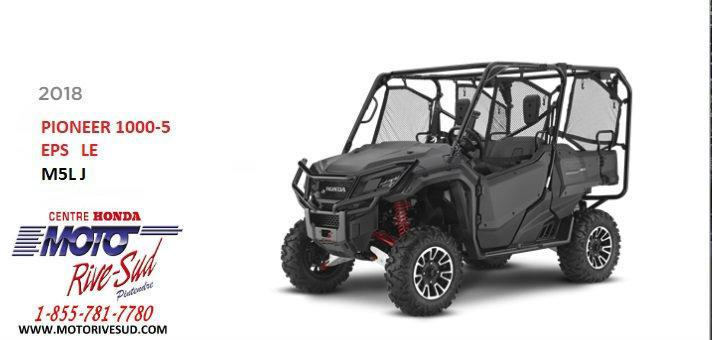 Honda PIONEER 1000 M5L 2018 VTT #PIONEER1000M5L