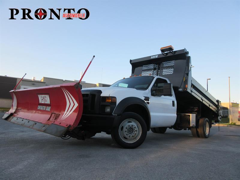 Ford Super Duty F-550 Drw 2008 4WD ** Dompeur ** Pelle a neige ** Selleuse ** #3450