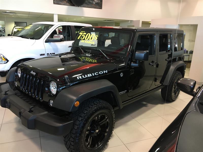 Jeep Wrangler Unlimited 2017 RUBICON+PNEU (31 POUCE) +GPS+CUIRE+2 TOIT #17483