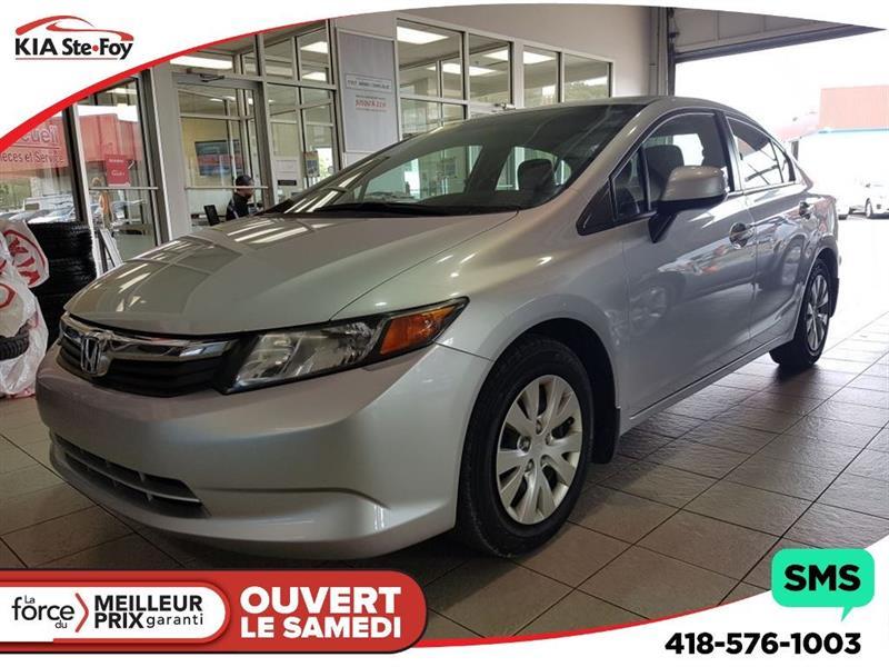 Honda Civic 2012 LX** 48728 KM*  DÉMARREUR* GAR. PROl.* #U1484A