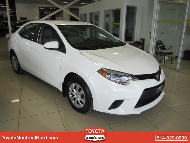 Toyota Corolla 2014 LE ECO CVT  Aut/Ac/Vitres,Portes,Miroirs Elec. #3920AT