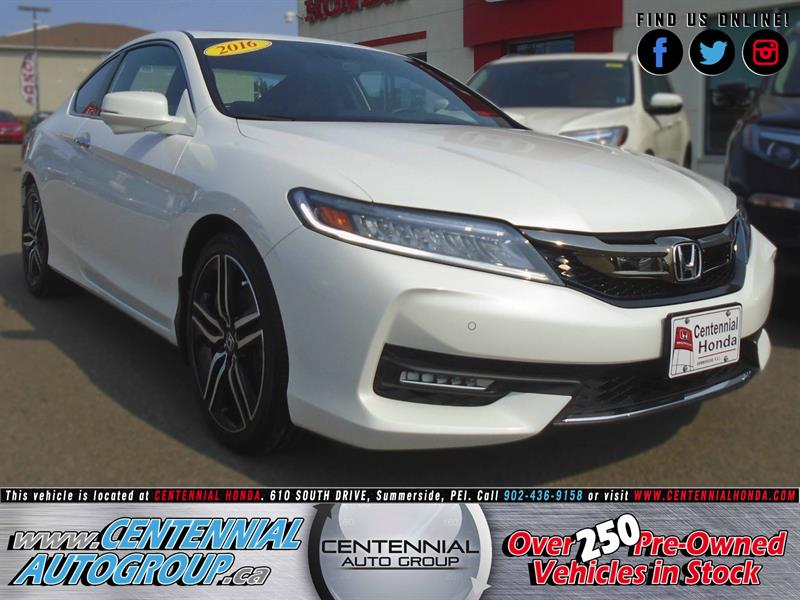 2016 Honda Accord Coupe Touring | 2.4L | i4-Cyl | Navigation | Bluetooth #U1600