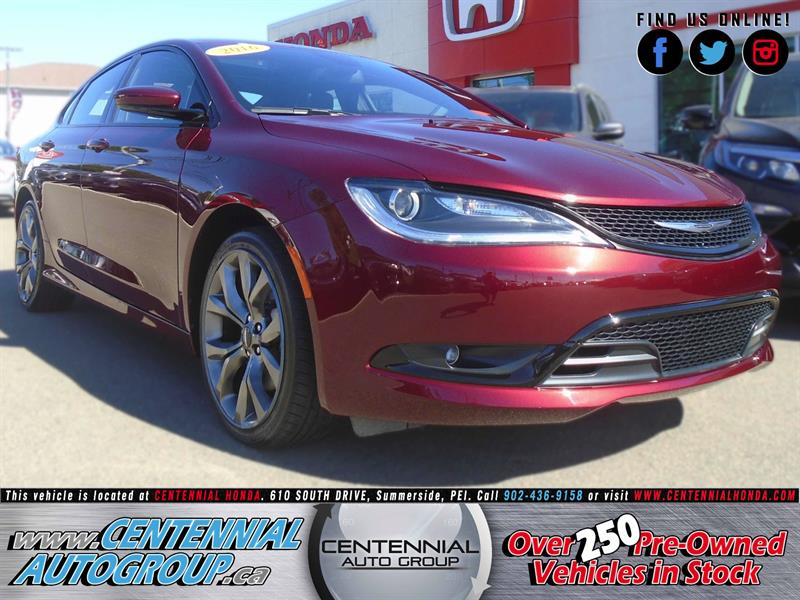 2016 Chrysler 200 S | 3.6L | V6 | Bluetooth | Navigation #U1608