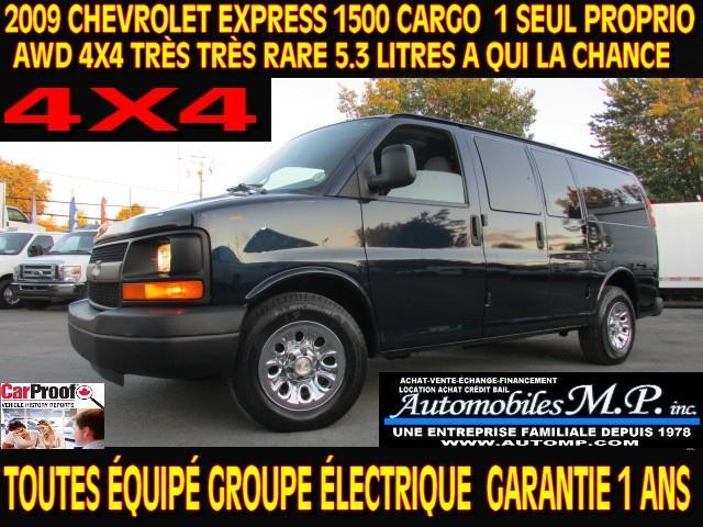 Chevrolet Express 1500 2009 CARGO AWD 4X4 81.000 KM TOUTES ÉQUIPÉ #437