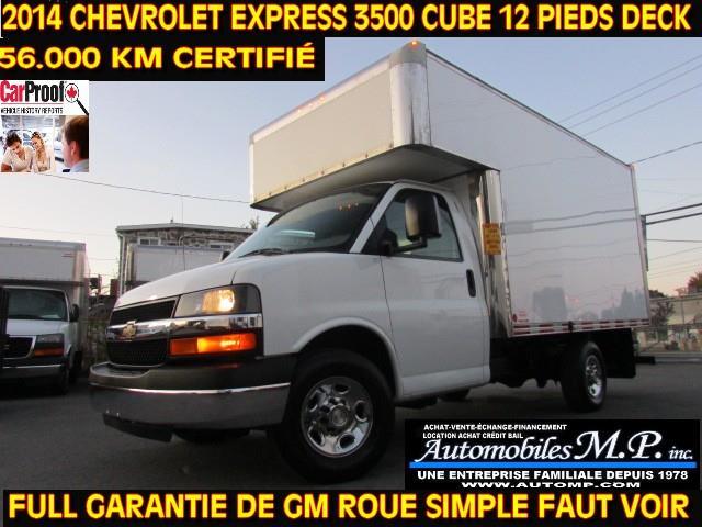 Chevrolet Express 3500 2014 CUBE 12 PIEDS DECK 56.000 KM IMPECCABLE #56
