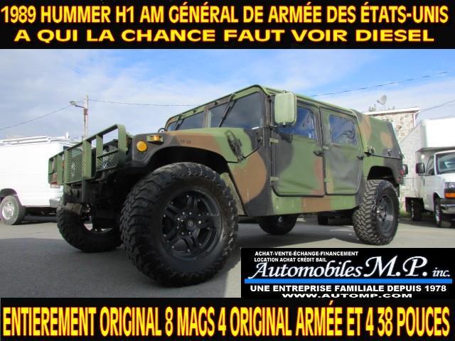 Hummer H1 1989 AM GENERAL DE ARMÉE DES AMÉRICAINE  FAUT VOIR  #001