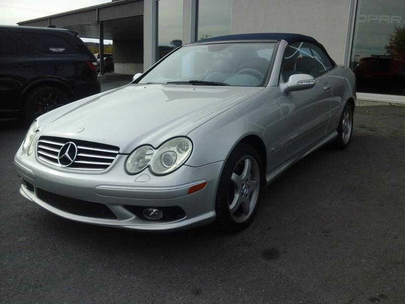 Mercedes-Benz CLK-Class 2004 (CABRIOLET, V8 5.0L, CUIR, TRES BAS KILO !! ) #03902B