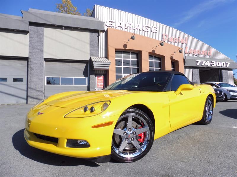 Chevrolet Corvette 2008 CONVERTIBLE, CUIR, GPS, HEAD UP, V8 LS3 6,2L VGA #87484
